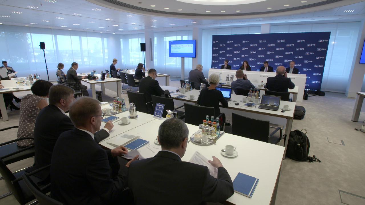 BVR-Pressekonferenz zum Konsolidierten Jahresabschluss 2017 in der DZ BANK in Frankfurt.